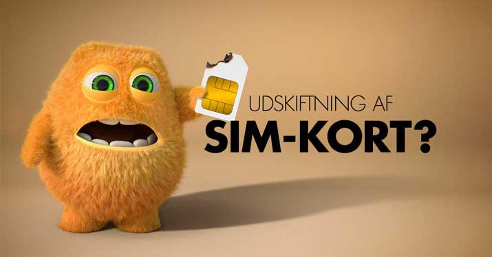 1fae0100b Udskiftning af SIM-kort