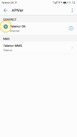 telenor mms opsætning android